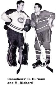 Montreal Canadians B. Durnam and M. Richard
