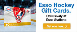 Esso Hockey Gift Cards exclusively at Esso stations