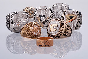The Stanley Cup Championship Ring Display