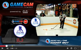 NHLPA Game Time's Shoot Out simulation game