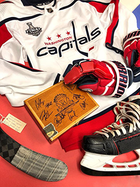 Washington Capitals Stanley Cup Champions Artifact Display Unveiled!