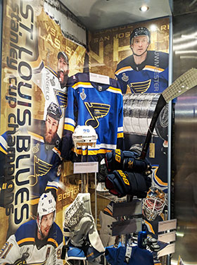 St. Louis Blues Stanley Cup Champions Display Unveiled