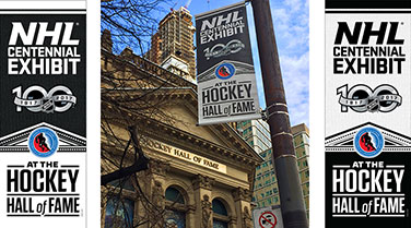 NHL 100th Anniversary Banners
