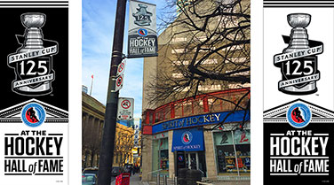 Hockey Hall of Fame Stanley Cup 125th Anniversary Street Banner for sale