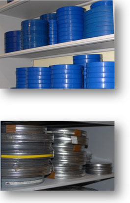 The Cold Room of the D.K. Doc Seaman Hockey Resource Centre is climate controlled to ensure ideal preservation of the collection.