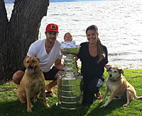 The Stanley Cup And Brent Seabrook Prepare To Fly To