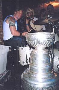 Chris Dingman and the Stanley Cup drumming with Mustard Smile