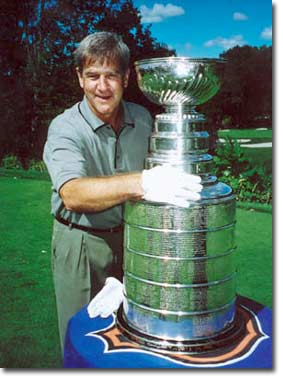 Bobby Orr gets reacquainted with an old friend.