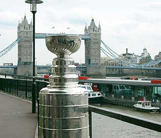 The Stanley Cup overlooking the Tower Bridge