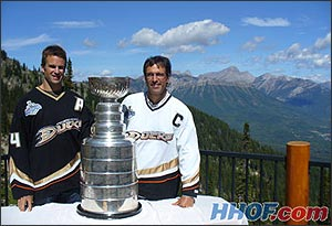 26fb71de5 Rob (left) and Scott (right) Niedermayer pose for another shot with the  Stanley Cup in beautiful Fernie