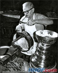 Carl Peterson was the first to officially engrave the Stanley Cup