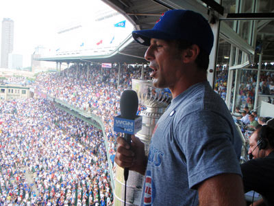 Chris Chelios singing 'Take Me Out to the Ball Game'