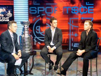 Jonathan Toews and Patrick Kane interview with ESPN.