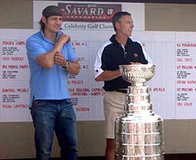 Brent Sopel and the Stanley Cup spent some time at the Denis Savard Celebrity Golf Tournament