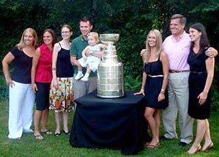 Rocky Wirtz and family with the Stanley Cup