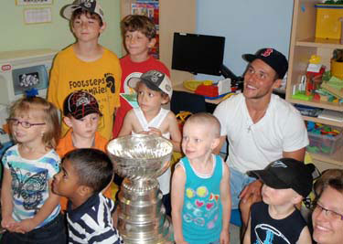 Gregory Campbell and the Stanley Cup spent some time at the Grand River Hospital.