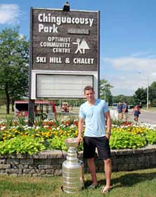 Tyler Seguin brought the Stanley Cup Chinguacousy Park. (Walt Neubrand/Hockey Hall of Fame)