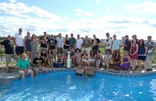 riends gathered at Chris Kelly�s house to celebrate the Bruins 2011 Stanley Cup championship.