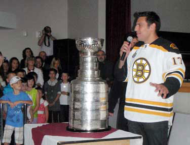 Milan Lucic brought the Stanley Cup to St. Michael Archangel Serbian Church in Burnaby, BC.