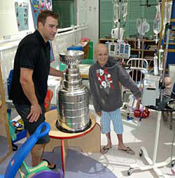 Johnny Boychuk and Lord Stanley spent some time at the Stollery Children's Hospital in Edmonton, AB.