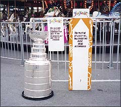 The Stanley Cup hopes it has grown enough over the past year to ride the merry-go-round.