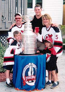 Colin and Amy White hosted a Stanley Cup party for family and friends at their new home in New Glasgow.