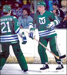 202578933 Selected fourth overall in the 1981 NHL Entry Draft by the Hartford Whalers