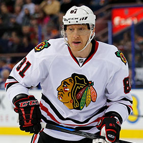 Marian Hossa was a member of the Ottawa Senators, Atlanta Thrashers, Pittsburgh Penguins and Detroit Red Wings before finding Cup success with the Chicago Blackhawks (Perry Nelson/HHOF).