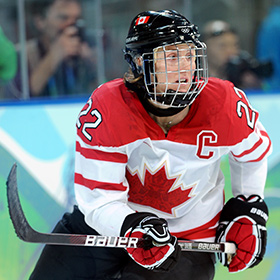 Hayley Wickenheiser dominated in her 23 year career as a member of the Canada's National Women's Team (Matthew Manor/HHOF).