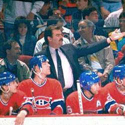 Pat Burns began his NHL coaching career with the Montreal Canadiens in 1988.