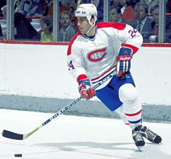 Chris Chelios began his NHL career with the Montreal Canadiens in during the 1983-84 season.