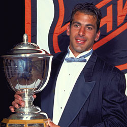 Chelios is a three-time winner of the James Norris Memorial Trophy as the NHL's top defenseman.