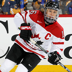 Jayna Hefford collected seven gold medals at the IIHF World Women's Championship as well as five silver medals. (Andre Ringuette/HHOF-IIHF Images)