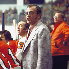 Shero was the inaugural winner of the Jack Adams Award as the NHL's top coach in 1974.