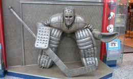 The new 'At The Crease' sculpture