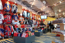 The all new Spirit of Hockey retail store.