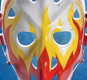Mask worn by Yves Belanger of the Atlanta Flames