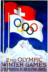 Olympic Winter Games 1928 Poster