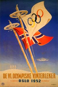 Olympic Winter Games 1952 Poster
