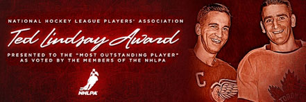 The Ted Lindsay Award is presented annually to the 'most outstanding player' in the NHL as voted by fellow members of the National Hockey League  Players' Association.