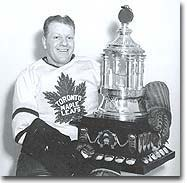 Leafs great Turk Broda was a two-time Vezina winner