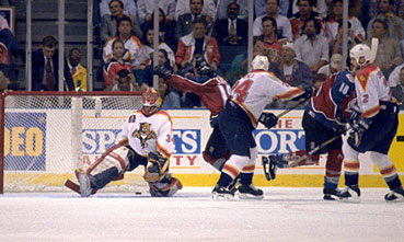 141debef54e 1996 Stanley Cup-winning goal by Colorado Avalanche defenseman Uwe Krupp.