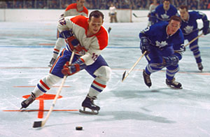 Yvan Cournoyer of the Montreal Canadiens was part of all four of the franchises Stanley Cup wins during a stretch from 1964 to 1969.