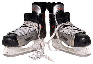 Skates worn by Canada's Jeff Carter