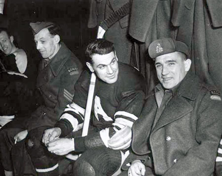 During his two year absence from the Toronto Maple Leafs and the NHL, Syl Apps suited up for the Toronto Army Daggers, the Brockville Army and the Ottawa All-Stars.