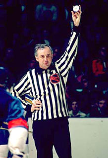 Neil Armstrong served as an NHL linesman for a total of 1,744 games.