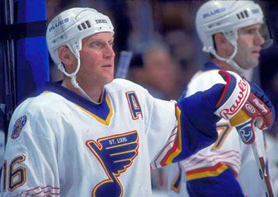 Brett Hull played eleven seasons in St. Louis before signing as a free agent with the Dallas Stars in the summer of 1999.