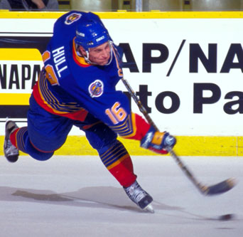 Brett Hull was known for his booming slapshot.
