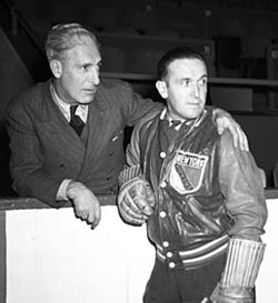 New York Rangers head coach Frank Boucher with general manager Lester Patrick