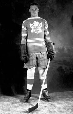 Charlie Conacher captured the Art Ross Trophy in 1934 and 1935 as a member of the Toronto Maple Leafs.